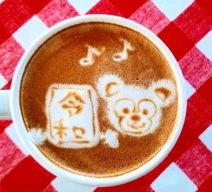 マヤカフェのラテアート