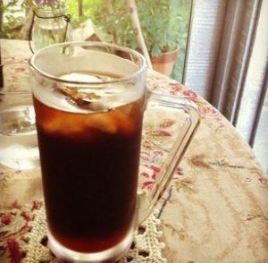 カッフェ ディレニーのオーガニックアイスコーヒー