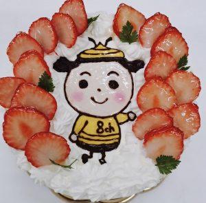 パティスリー ラネージュのイラストケーキ