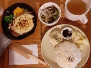 福吉カフェのハンバーグ
